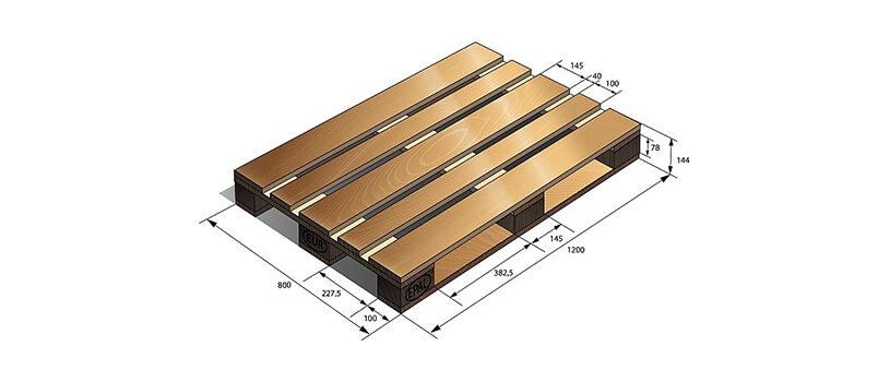Поддон плоский деревянный ГОСТ 9557-87 М